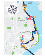 Half Marathon Route through LES